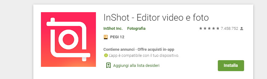 InShot Editing Video per Android