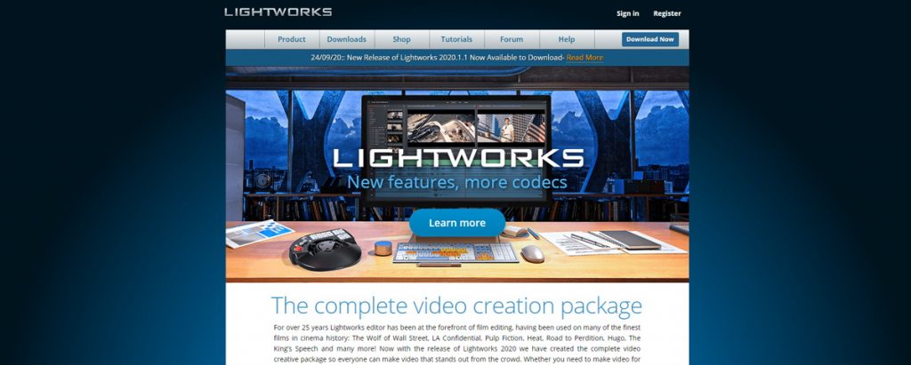 LightWorks Software per Video Editing